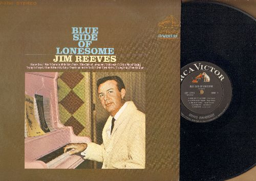 Reeves, Jim - Blue Side Of Lonesome: I Know One, Blue Without My Baby, Teardrops On The Rocks, Deep Dark Water (vinyl STEREO LP record) - EX8/EX8 - LP Records