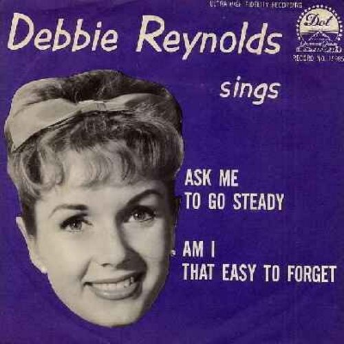 Reynolds, Debbie - Am I That Easy To Forget/Ask Me To Go Steady (with picture sleeve) - EX8/EX8 - 45 rpm Records