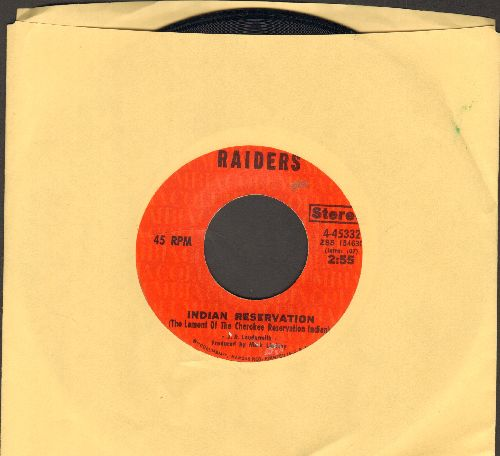 Raiders - Indian Reservation (The Lament Of The Cherokee Reservation Indian)/Terry's Tune - EX8/ - 45 rpm Records
