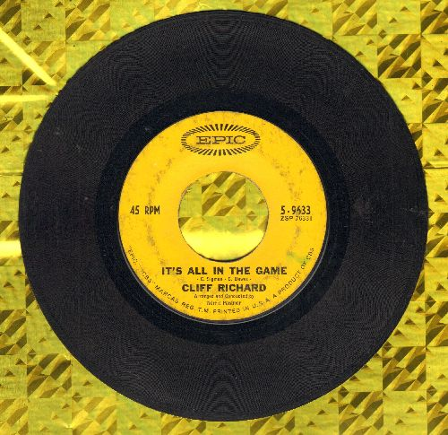 Richard, Cliff - It's All In The Game/I'm Looking Out Of The Window  - VG6/ - 45 rpm Records