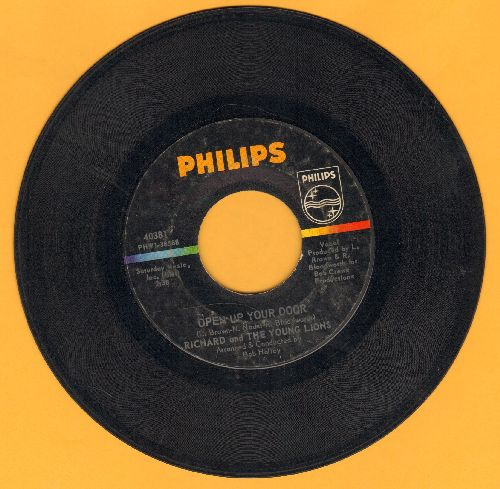 Richard & The Young Lions - Open Up Your Door/Once Upon Your Smile  - VG7/ - 45 rpm Records