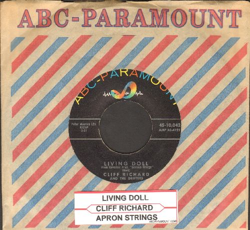 Richard, Cliff - Living Doll/Apron Strings (with vintage ABC-Paramount company sleeve and juke box label) - NM9/ - 45 rpm Records