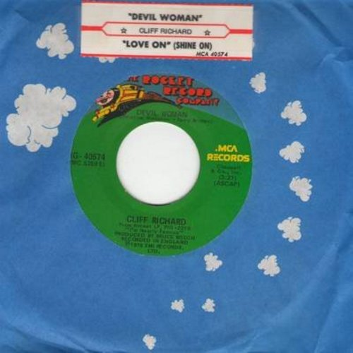 Richard, Cliff - Devil Woman/Love On (Shine On) (with company sleeve and juke box label) - EX8/ - 45 rpm Records