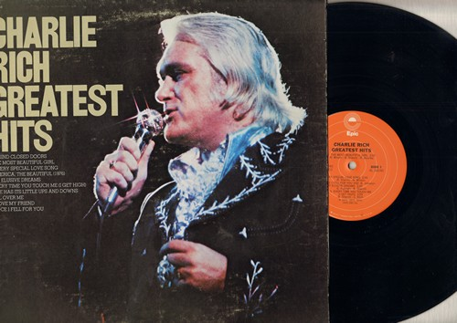 Rich, Charlie - Greatest Hits: The Most Beautiful Girl, Behind Closed Doors, Since I Fell For You, All Over Me (vinyl STEREO LP record) - NM9/VG7 - LP Records