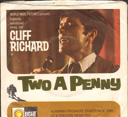 Richard, Cliff - Two A Penny/Red Rubber Ball/And Me/Questions (vinyl EP record with picture sleeve) - EX8/VG7 - 45 rpm Records