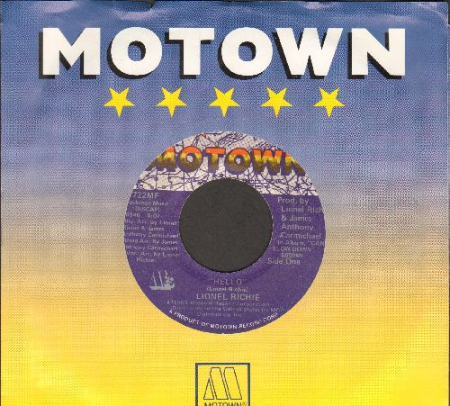 Richie, Lionel - Hello/You Mean More To Me (with Motown company sleeve) - VG7/ - 45 rpm Records