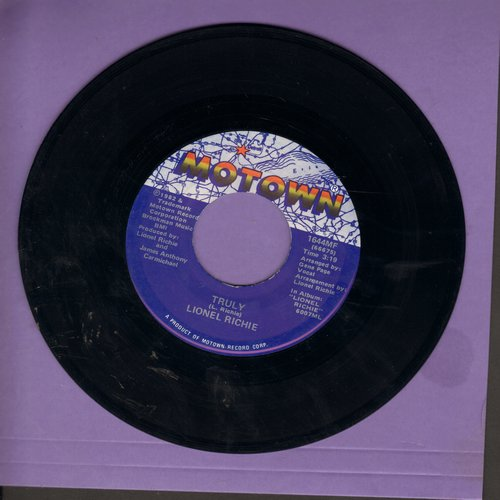 Richie, Lionel - Truly/Just Put Some Love In Your Heart - NM9/ - 45 rpm Records