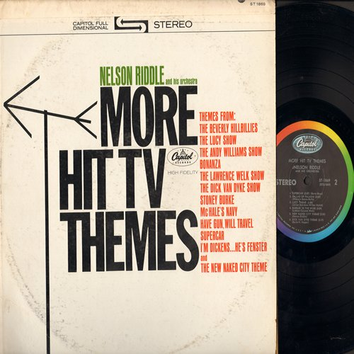 Riddle, Nelson & His Orchestra - More Hit TV Themes: The Lucy Show, Bonanza, Dick Van Dyke Show, Beverly Hillbillies (vinyl STEREO LP record) - NM9/VG7 - LP Records