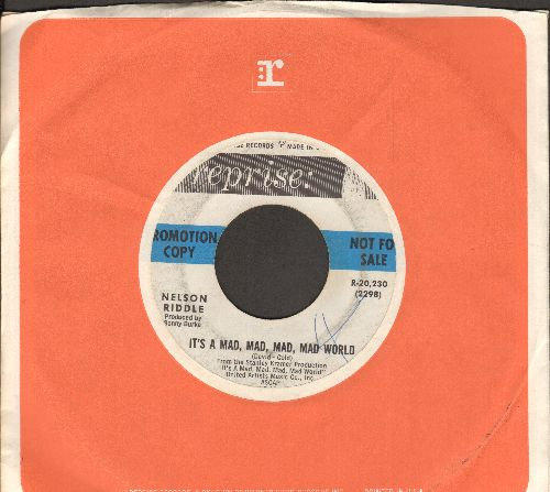 Riddle, Nelson - It's A Mad, Mad, Mad, Mad World/My Special Dream (DJ advance copy) - VG7/ - 45 rpm Records