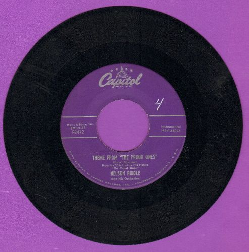 Riddle, Nelson & His Orchestra - Theme From -The Proud Ones-/The Love Of Genevieve - NM9/ - 45 rpm Records