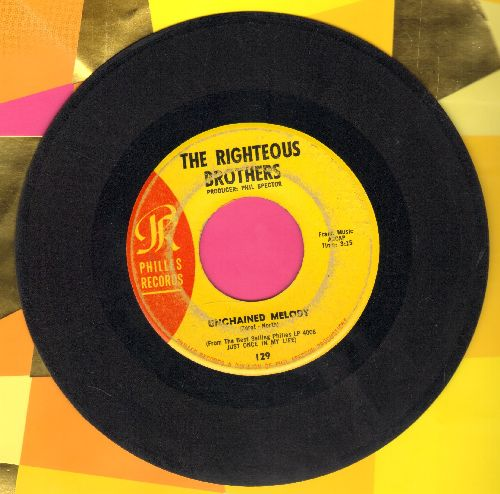 Righteous Brothers - Unchained Melody/Hung On You  - VG6/ - 45 rpm Records