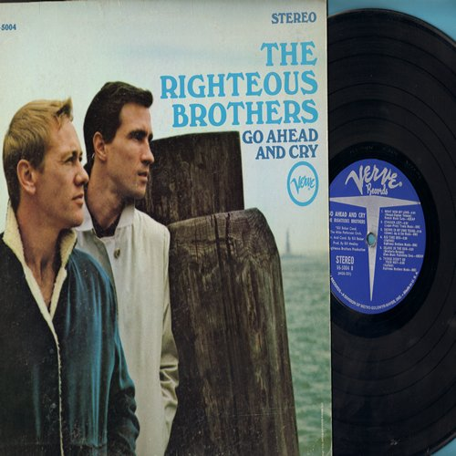 Righteous Brothers - Go Ahead And Cry: Let It Be Me, Save The Last Dance For Me, What Now My Love, Stagger Lee, Island In The Sun (vinyl STEREO LP record) - EX8/EX8 - LP Records