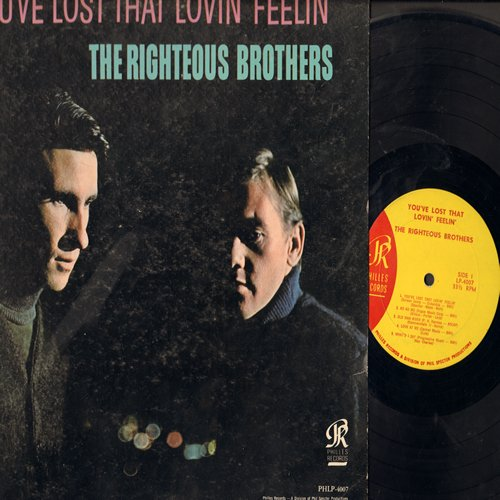 Righteous Brothers - You've Lost That Lovin' Feelin': Old Man River, The Angels Listened In, Summertime, What'd I Say, Ko Ko Mo (vinyl MONO LP record) - EX8/VG6 - LP Records