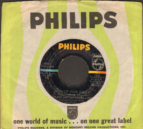 Richard & The Young Lions - Open Up Your Door/Once Upon Your Smile (with Philips company sleeve) - VG7/ - 45 rpm Records
