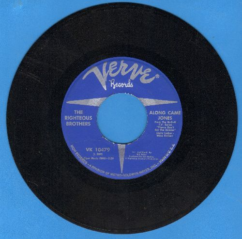 Righteous Brothers - Along Came Jones/Jimmy's Blues - NM9/ - 45 rpm Records
