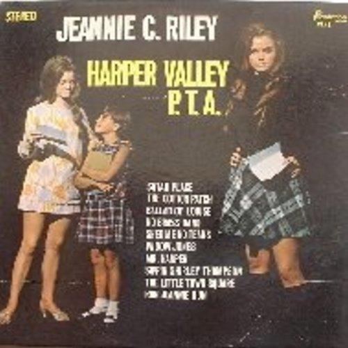 Riley, Jeannie C. - Harper Valley P. T. A.: Shed Me No Tears, Sippin' Shirley Thompson, Ballad Of Louise, Run Jeannie Run, Widow Jones, Satan Place - EX8/VG7 - LP Records