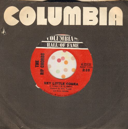Rip Chords - Hey Little Cobra/Three Window Coupe (double-hit re-issue with Columbia company sleeve) - EX8/ - 45 rpm Records