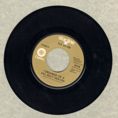 Ritter, Tex - Just Beyond The Moon/I Dreamd Of A Hill-Billy Heave (double-hit re-issue) - M10/ - 45 rpm Records