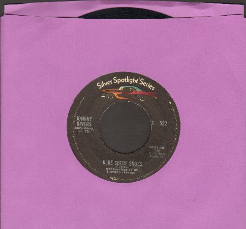 Rivers, Johnny - Blue Suede Shoes/Rockin' Pneumonia-Boogie Woogie Flu (double-hit re-issue) - VG7/ - 45 rpm Records