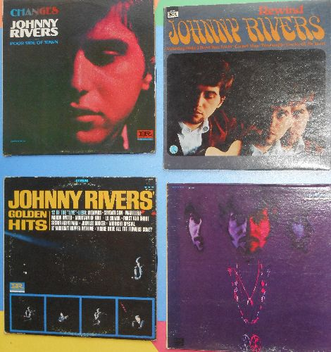 Rivers, Johnny - 4-Pack of vintage Johnny Rivers LPs includes Changes/Rewind/Realization/Golden Hits. All vinyl albums and covers are in very good or better condition. GREAT set for a fan! - EX8/VG7 - LP Records