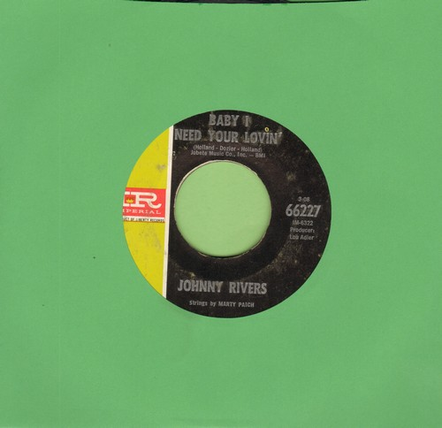 Rivers, Johnny - Baby I Need Your Lovin'/Getting' Ready For Tomorrow - EX8/ - 45 rpm Records