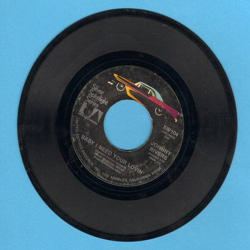 Rivers, Johnny - Poor Side Of Town/Baby I Need Your Loving (re-issue) - EX8/ - 45 rpm Records