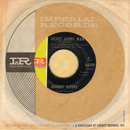 Rivers, Johnny - Secret Agent Man/You Dig (with Imperial company sleeve) - EX8/ - 45 rpm Records