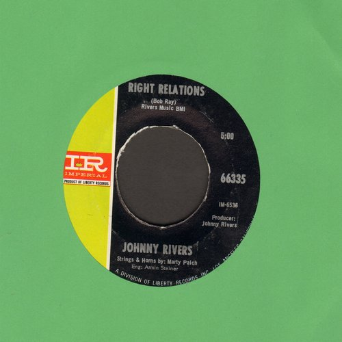 Rivers, Johnny - Right Relations/A Better Life - EX8/ - 45 rpm Records