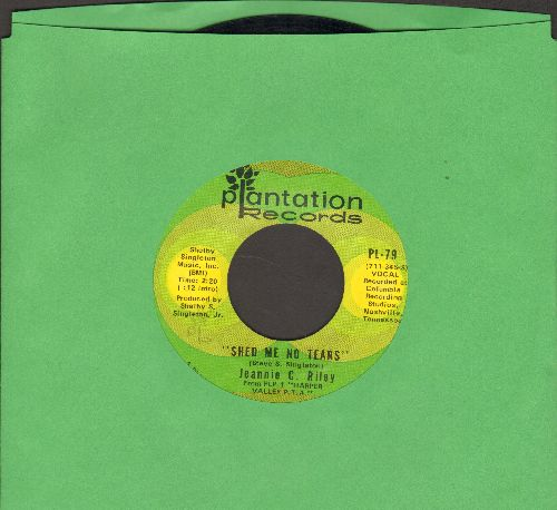 Riley, Jeannie C. - Shed Me No tears/Roses And Thorns - NM9/ - 45 rpm Records