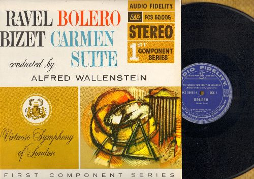 Wallenstein, Alfred, conducting Virtuoso Symphony of London - Ravel Bolero/Bizet Carmen Suite - conducted by Alfred Wallenstein (vinyl STEREO LP record) - EX8/EX8 - LP Records