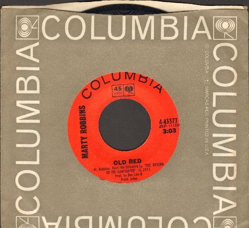 Robbins, Marty - Old Red/Matilda (with Columbia company sleeve) - NM9/ - 45 rpm Records