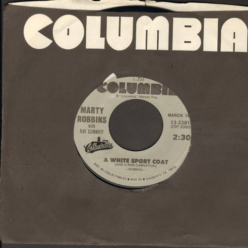 Robbins, Marty - A White Sport Coat (And A Pink Carnation)/El Paso (double-hit re-issue) - EX8/ - 45 rpm Records