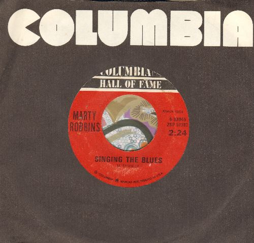 Robbins, Marty - Singing The Blues/Big Iron (double-hit re-issue) - EX8/ - 45 rpm Records