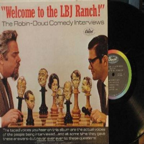 Doud, Earle & Alen Robin - Welcome to the LBJ Ranch! - (Mono) The Robin-Doud Comedy Interviews - hilarious comedy segments inspired by the then President Lyndon B. Johnson. (vinyl MONO LP record) - NM9/NM9 - LP Records
