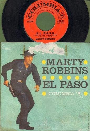 Robbins, Marty - El Paso/Running Gun (first issue with picture sleeve) - EX8/VG6 - 45 rpm Records