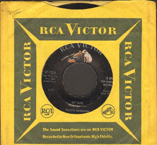 Robinson, Floyd - My Girl (NOVELTY song capitalizing on the Witch Doctor/Chipmunk Craze)/Makin' Love (with RCA company sleeve) - VG7/ - 45 rpm Records