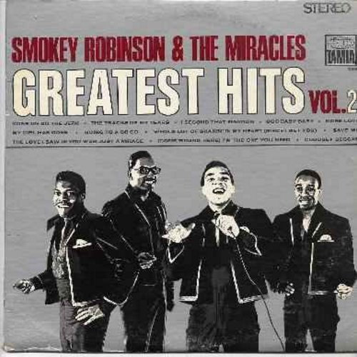 Robinson, Smokey & The Miracles - Greatest Hits Vol. 2: Come On Do The Jerk, The Tracks Of My Tears, I Second That Emotion, Ooo Baby Baby, Going To A Go Go (vinyl LP record) - EX8/VG7 - LP Records