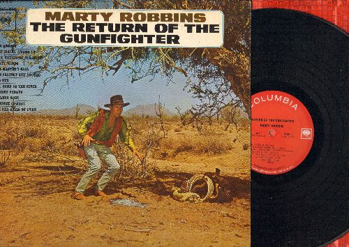 Robbins, Marty - The Return Of The Gunfighter: Old Red, The Fastest Gun Around, San Angelo, Johnny Fedavo, Abilene Rose (vinyl MONO LP record) - EX8/NM9 - LP Records