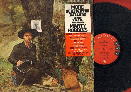 Robbins, Marty - More Gunfighter Ballads And Trail Songs: Streets Of Laredo, Five Brothers, She Was Young And She Was Pretty (vinyl MONO LP record) - VG7/EX8 - LP Records