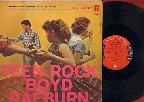 Raeburn, Boyd & His Orchestra, vocals by Ginnie Powell - Teen Rock: Dancin' And Romancin', Bye Bye Blues, Beachcomber, There's A Small Hotel, By The Light Of The Silv'ry Moon (vinyl MONO LP record) - NM9/VG7 - LP Records