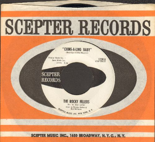 Rocky Fellers - Ching-A-Ling Baby/Hey Little Donkey (DJ advance pressing with vintage Scepter company sleeve) - EX8/ - 45 rpm Records