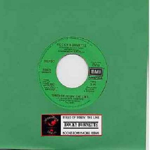 Burnette, Rocky - Tired Of Toein' The Line/Boogie Down In Mobile, Alabama (with juke box label) - VG7/ - 45 rpm Records