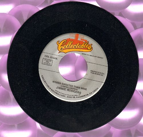 Rodgers, Jimmie - Kisses Sweeter Than Wine/Bimbombey (double-hit re-issue) - EX8/ - 45 rpm Records