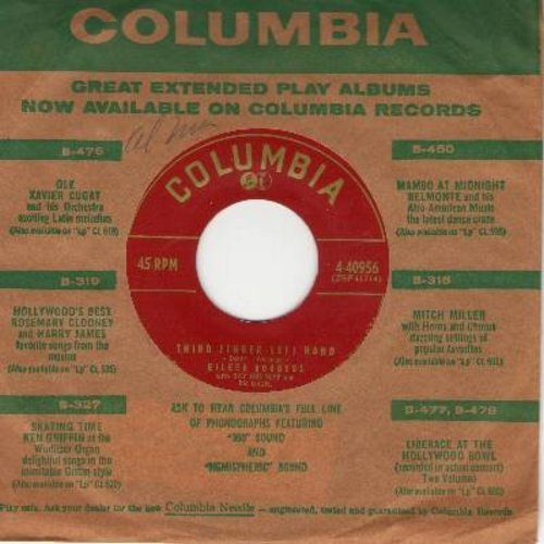 Rodgers, Eileen - Third Finger Left Hand/Crazy Dream (with vintage Columbia company sleeve) - EX8/ - 45 rpm Records