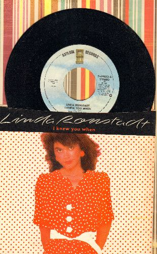 Ronstadt, Linda - I Knew You When/Talk To Me Of Mendocino (with picture sleeve) - NM9/EX8 - 45 rpm Records