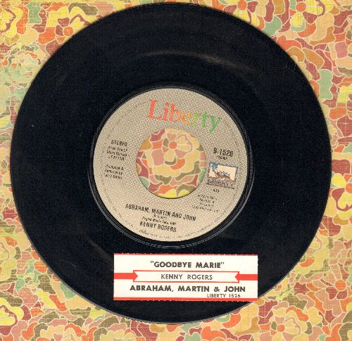 Rogers, Kenny - Abraham, Martin And John/Goodbye Marie - VG7/ - 45 rpm Records