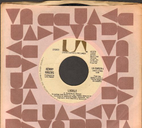 Rogers, Kenny - Lucille/Till I Get It Right (with United Artists company sleeve) - NM9/ - 45 rpm Records
