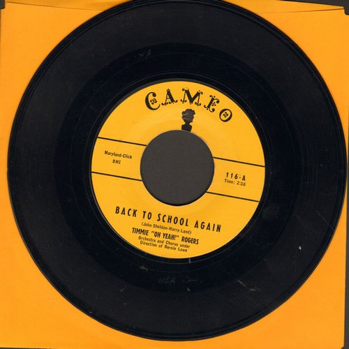 Rogers, Timmie  - Back To School Again/I've Got A Dog Who Loves Me  - EX8/ - 45 rpm Records