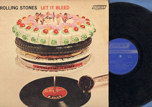Rolling Stones - Let It Bleed: You Can't Always Get What You Want, Love In Vain, Midnight Rambler, Gimme Shelter (vinyl STEREO LP record) - VG7/EX8 - LP Records