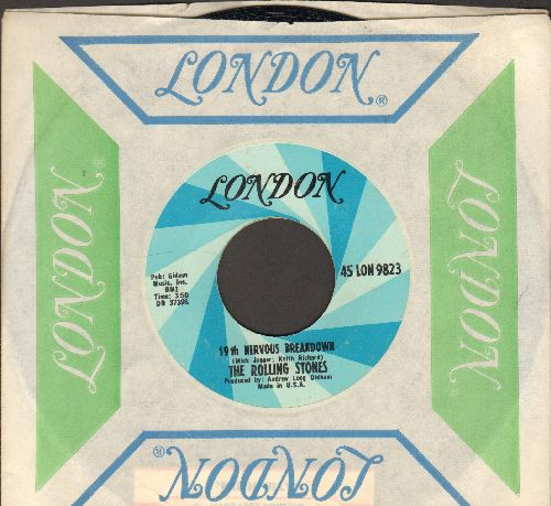 Rolling Stones - 19th Nervous Breakdown/Sad Day (with vintage London company sleeve) - EX8/ - 45 rpm Records